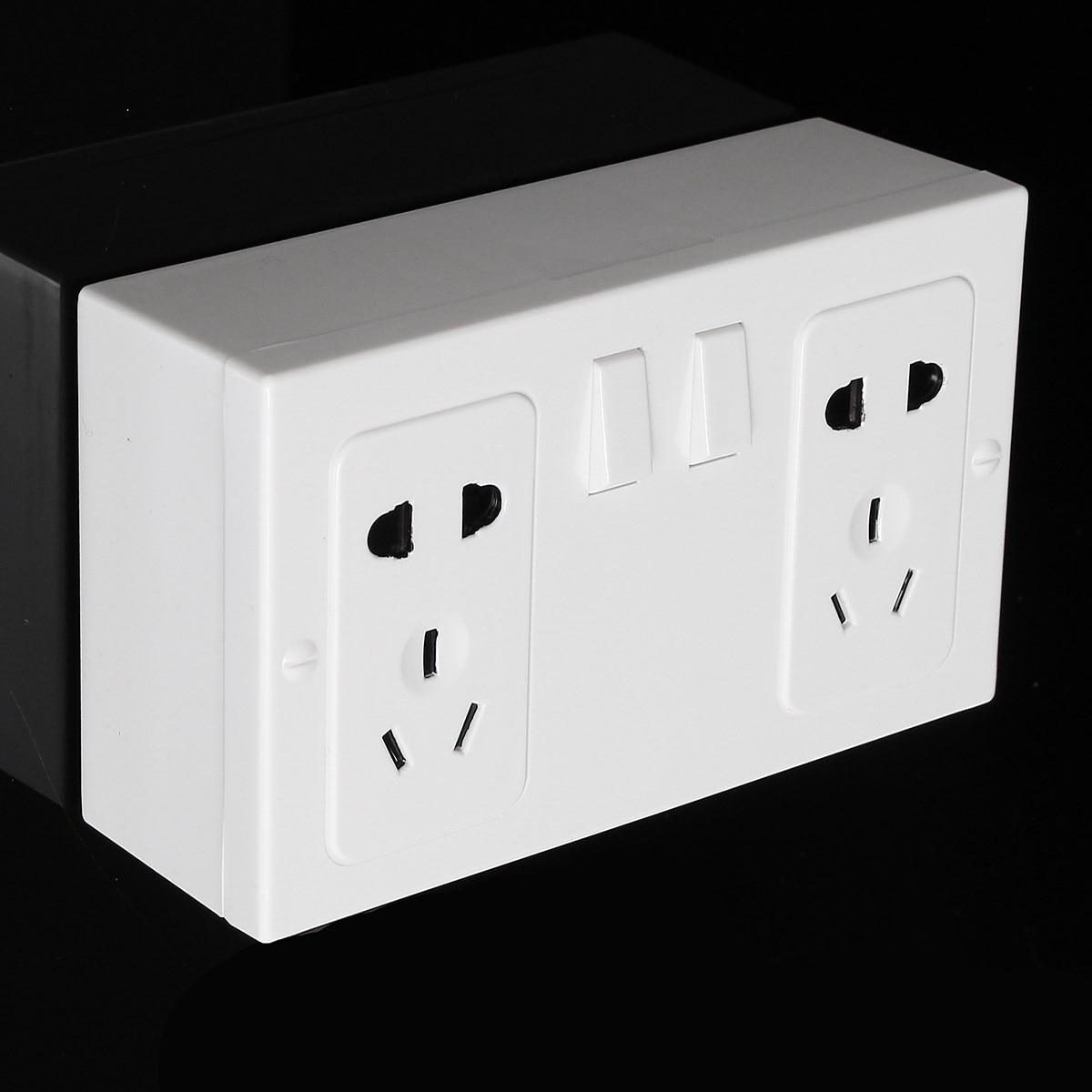 Double Plug Socket Imitation Storage Box Bin Wall Hanging Valuables