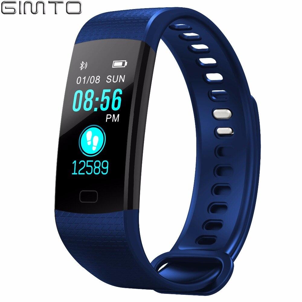 GIMTO Bluetooth цифровой Смарт Браслет спортивные часы для женщин дети сердечного ритма приборы для измерения артериального давления калорий
