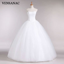 New A Line Lace Sayang Dari bahu Tanpa Lengan White Satin Bridal Wedding Dress Wedding Gown 30335