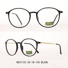 Óculos redondos masculino feminino tr frame óculos acessórios prescrição óculos transparentes quadro colorido wz01153