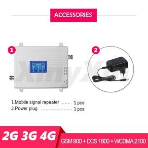 Image 2 - 2グラム3グラム4グラム携帯電話携帯ブースター信号ブースターgsm 900 dcs lte 1800 wcdma 2100携帯信号リピータアンプトライバンド