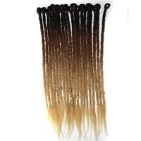 Qp Hair 10strands dreadlocks Synthetic Hair Hand Made Crochet Braids 1 Packs Ombre Braiding Hair Extension
