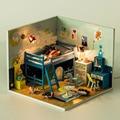 D007 Новые Прибытия Diy Кукольный Домик миниатюре 3D Деревянный Кукольный Домик миниатюрный Мебель Для спальни Для Детей Игрушки куклы домов