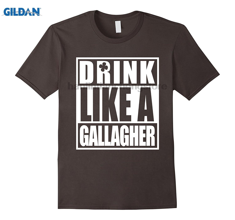 Возьмите пить как Галлахер футболка День Святого Патрика забавные