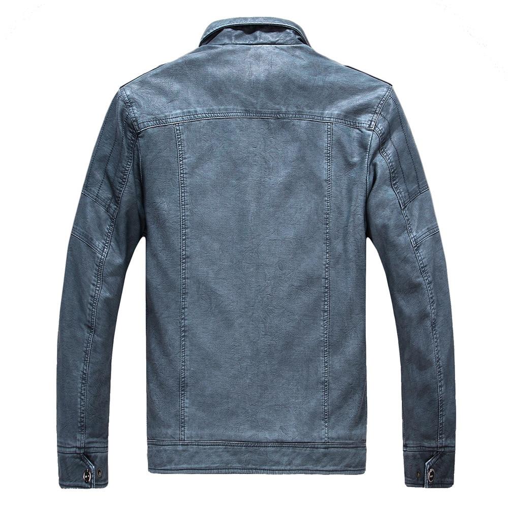 ジャケット男性 Pu レザースタンド襟厚く暖かい 4xl プラスサイズのジャケットとコートの冬ブランド服生き抜くクラシック c1594  グループ上の メンズ服 からの ジャケット の中 2