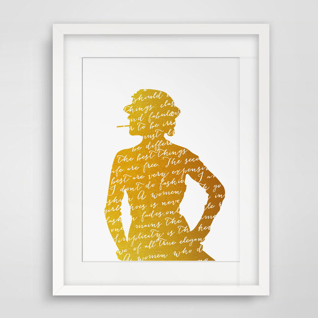 Gold Foil Wall Art aliexpress : buy fashion women gold foil wall art modern home