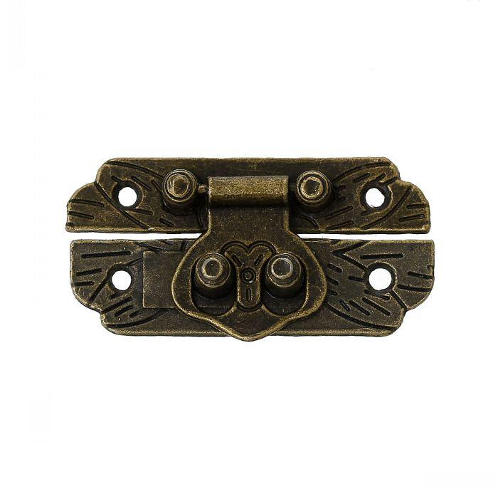 Dorabeads Jewelry Wooden Box Lock Buckle Decorative Hardware Antique Bronze 4.7cm x 2.5cm(1 7/8 x1),10 Sets 10pcs lot pale golden diy manual lock catch decorative lock luggage hardware accessories