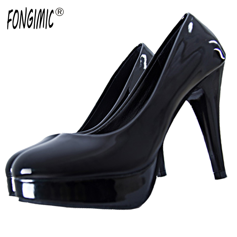 Hot Sale Large Size Good Quality Women Shoes High Heels Four Colors Slip-on Female Shoes Plain Solid Thin Heels Round Toe Pumps 2017 shoes women med heels tassel slip on women pumps solid round toe high quality loafers preppy style lady casual shoes 17