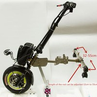 36V 48V 350W Electric Handcycle Folding Wheelchair Attachment Hand Cycle Bike WheelChair Conversion Kits