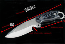 лучшая цена Free shipping Sharp outdoor knife, straight knife blade material AUS-8A steel handle is Mick tower Fish knife Survival tools