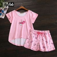 New Candy Color 2017 Summer 100 Cotton Women Pajamas Sets Short Sleeves Casual Women Shorts Cute