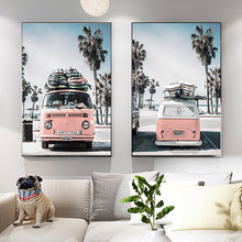 Landscape canvas wall art poster no photo frame Nordic journey bus nature decoration picture modern home hotel gallery decor ZR2(China)