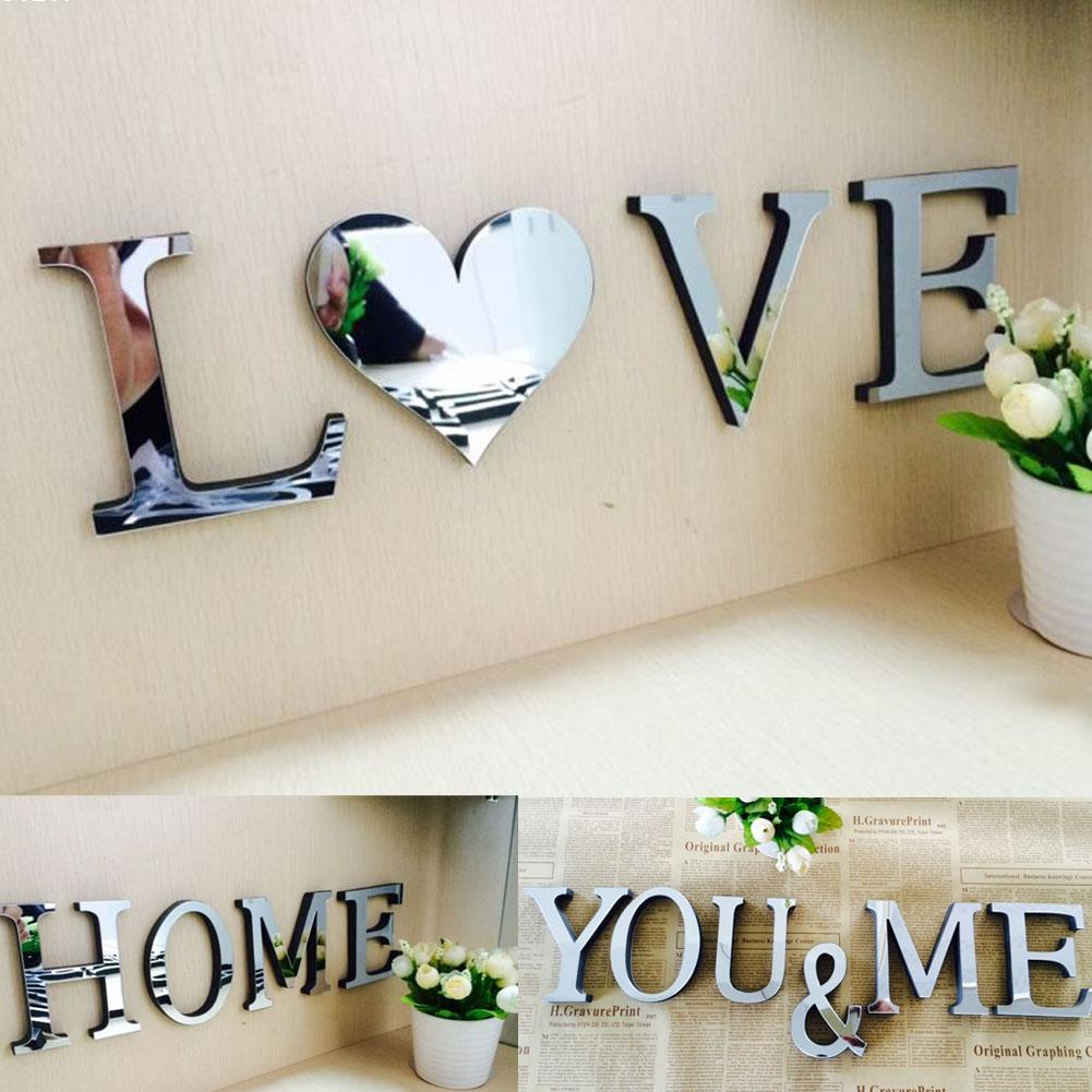 Buy 1pcs acrylic sticker love characters for Alphabet wall decoration