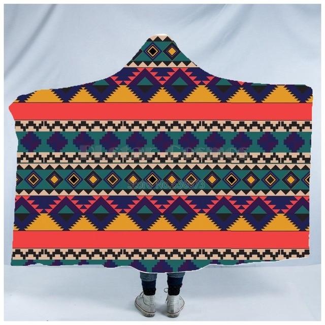 Totem/Native Indian Hooded Blanket 5
