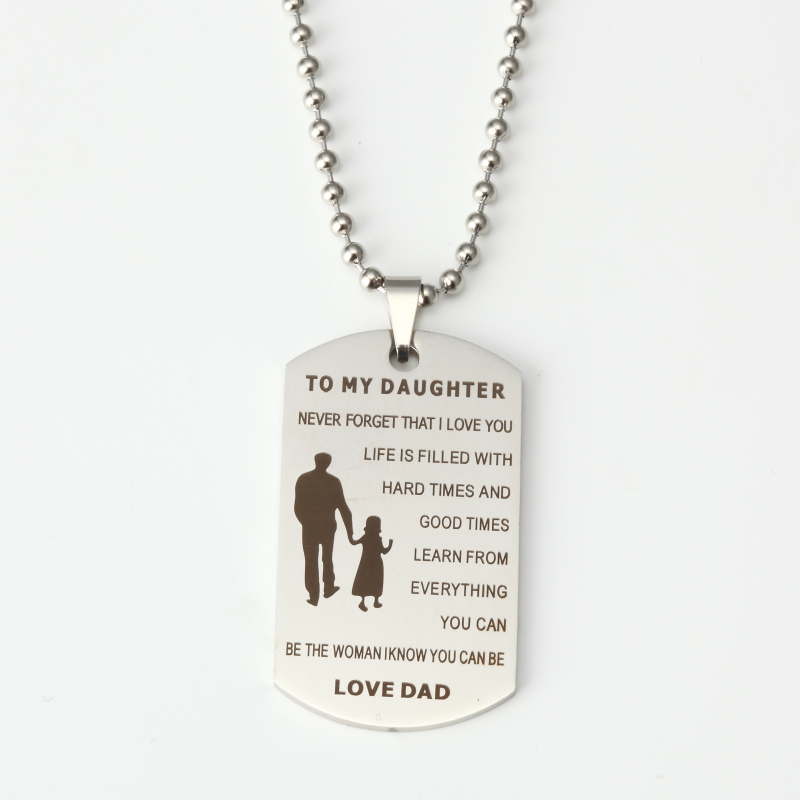 Personalized Stainless Steel Dog Tag Necklace with Engraved Custom Your Own