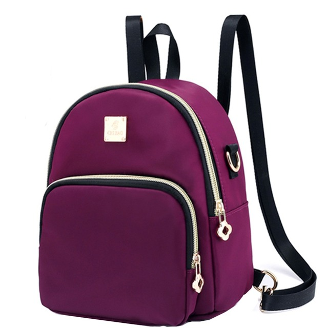 178ac4dfdd Women Mini Backpack Purse Nylon Waterproof Small Backpack for Girls Multifunctional  Cross Body Bag 2018 Fashion Bag