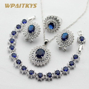 Women Silver Color Jewelry Set