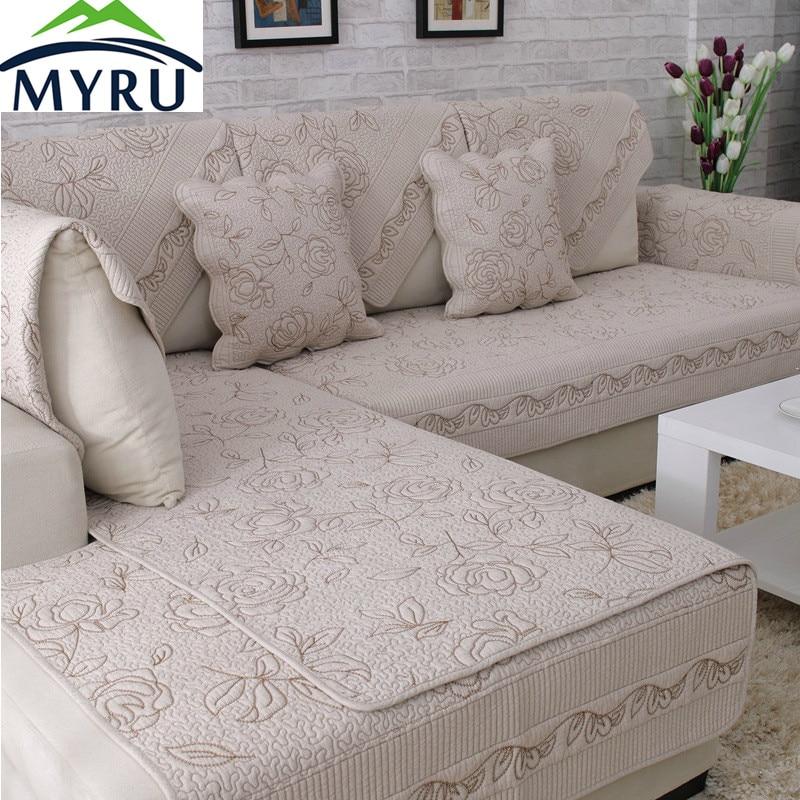 Myru Hot Sale European Style Sofa Covers Slip Resistant Sofa Towel Sofa Slipcover Pattern Covers