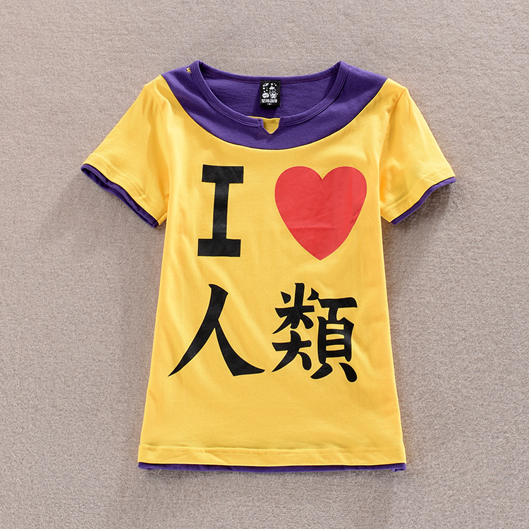 Anime The game of life no game no life I love human fake two-piece short-sleeved t-shirt