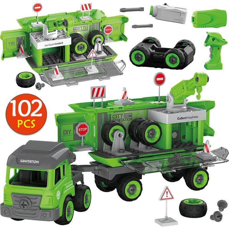 104 pièces RC voiture blocs de construction Legoed Duplo ville Police ingénierie camion brique bricolage grande taille ville département jouets pour enfants