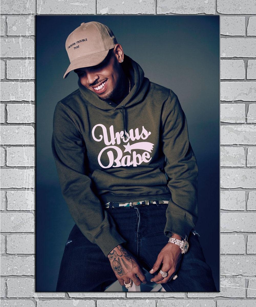 Chris Brown Royalty X Black Pyramid Rapper Light Canvas