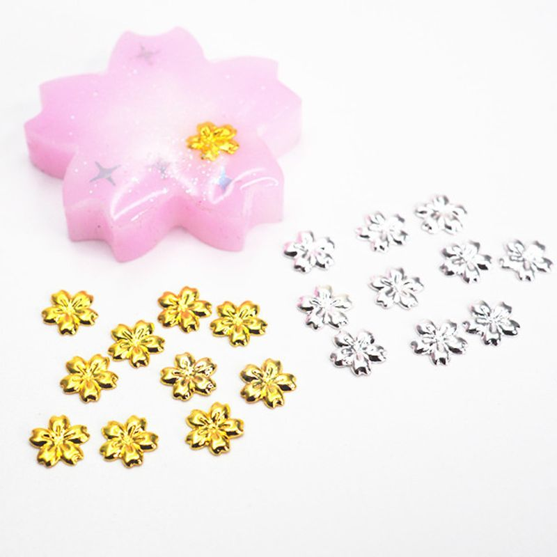 100Pcs Cherry Flower Frame For Jewelry UV Resin Charm Filling Bezel Setting Cabochon Fillers