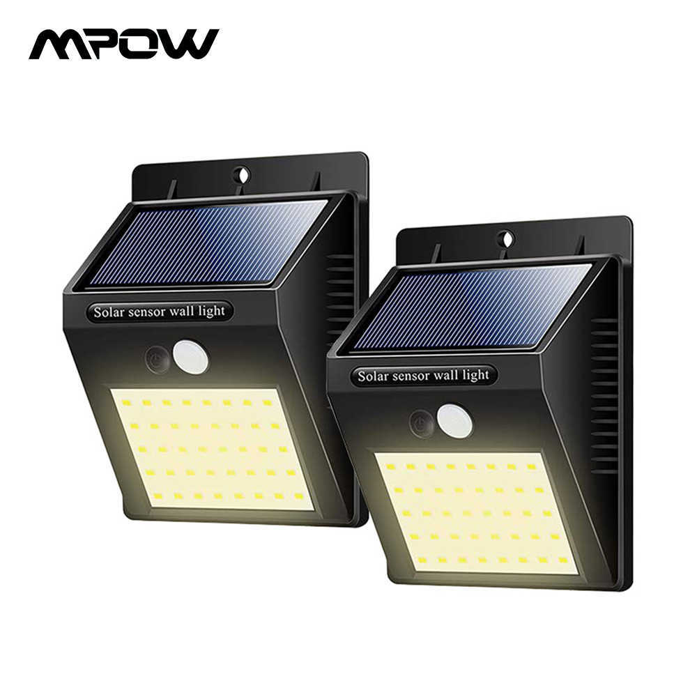 lámpara Pack XR183 40 exterior LED luz 124 de Mpow Solar 8nmyvN0Ow