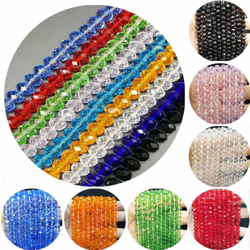 New 4/6/8mm Cheap Hot Fashion Scattered beads DIY Crystal Glass Beads Assorted Colorful Spacer Beads for Bracelet Jewelry Making