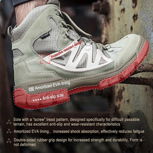 FREE SOLDIER ,Hiking Shoes For Mountain,Shoes For Camping,Climbing Imported Leather Breathable Outdoor Sports Tactical Men Boots