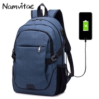 Namvitae Men Canvas Backpacks Fashion Student School Bags For Teenagers Large Sports Cycling Style Backpack With