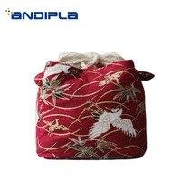 Criativo bule/bule de chá armazenamento saco de chá sacos de algodão para viagens fácil transportar chinês kung fu conjunto de chá acessórios pacote arte