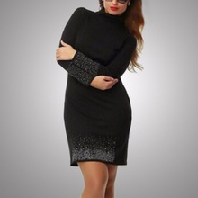 Spring Women Long Sleeve Oversized Dresses Party Wear Dresses  L-6XL  Autumn