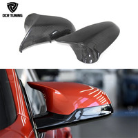 Real M3 M4 replacement part side door mirror cover for BMW M3 M4 F80 F82 F83 2014 2015 2016 UP Car Mirror Caps Carbon Fiber
