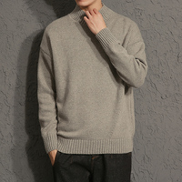 Mens Casual Sweater 2017 New Autumn Fashion Solid Color Pullover Men O Neck Sweater Men Long