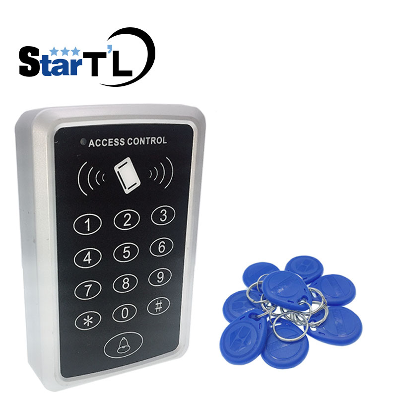 rfid proximity entry lock door access control system with 10 rfid card free shipping Free shipping 10 rfid tag+RFID Proximity Card Access Control System RFID/EM Keypad Card Access Control Door Opener