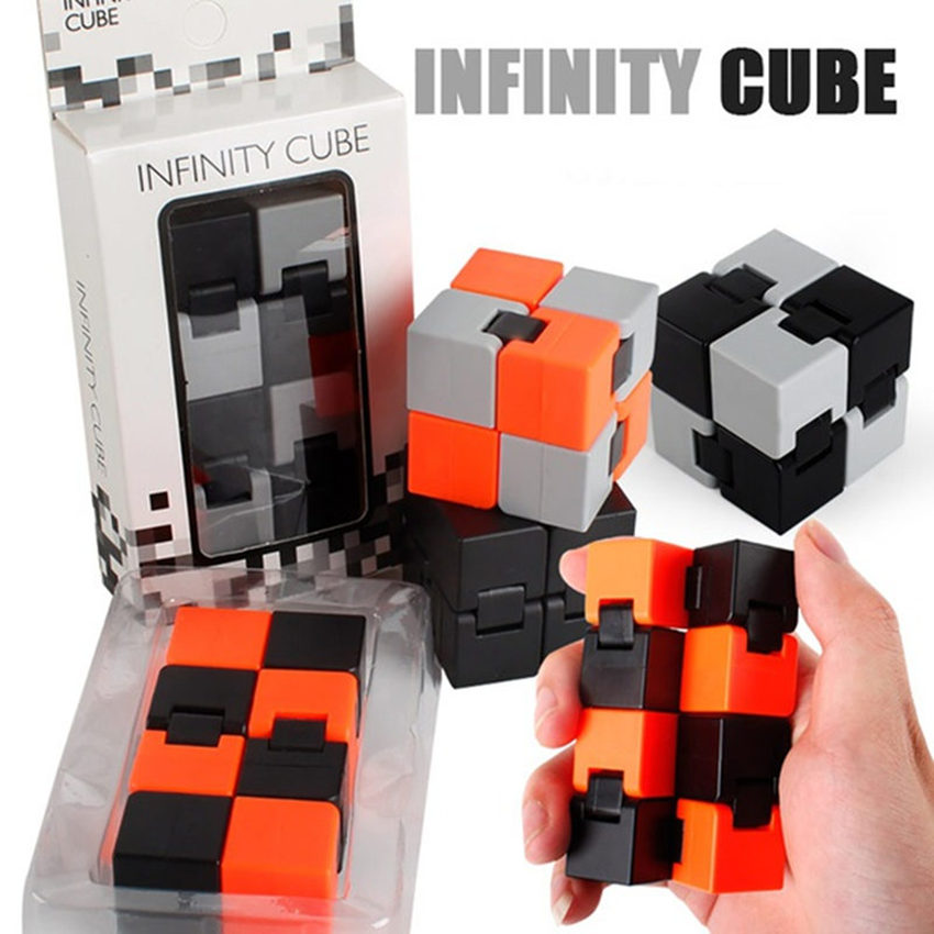 2018 New Autism&ADHD Anti Stress Gift Infinity Cube Novelty Antistress Infinite Kids Adults Decompression Toy