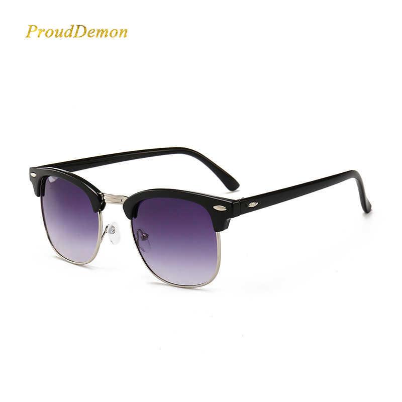 b14ef9ad318c ... Fashion Classic Half Metal Rivet Sunglasses Men Women Brand Designer  Oculos de sol High Quality Mirror ...