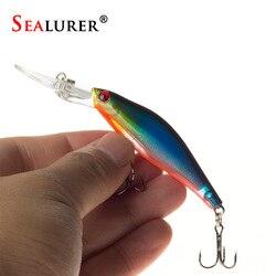 SEALURER 1 шт., лазерные воблеры рыболовные снасти, 3D глаза, тонущий гольян, рыболовная приманка, Crankbait 6 # hook