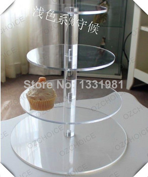 4 tiers Clear acrylic cupcake stands/   wedding decoration cake display stands/acrylic cupcake stand