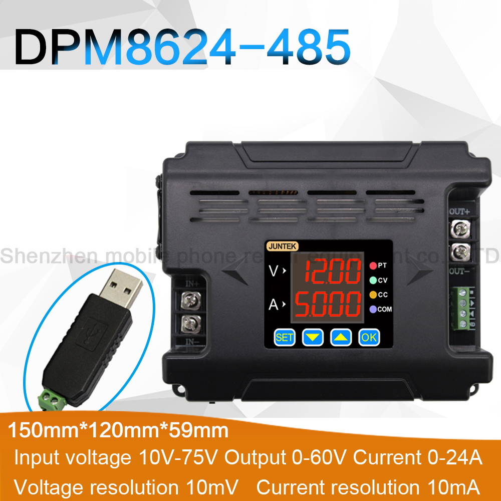 DPM8624 485 Programmable Digital DC Step Down Power Supply Constant Voltage Constant Current Isolation 485 Communication