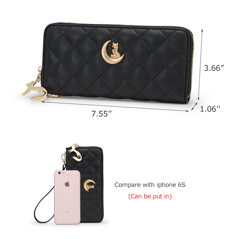 FOXER Women Leather Long Wallet Cowhide Classic Clutch Bags Fashion High Quality Cellphone Purse With Wrist Strap Female Wallets