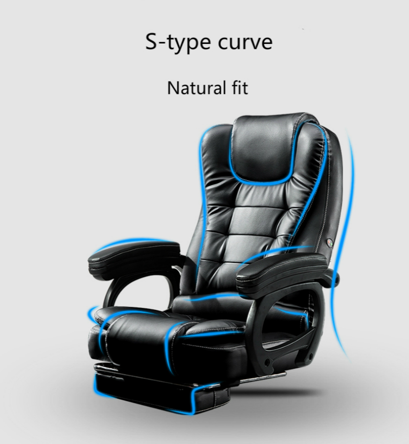 Household Computer Chair Thicken Sumptuous Boss Chair Reclining Massage Office Chair Arched Foot Steady Chair With Footrest Soft Office Chairs