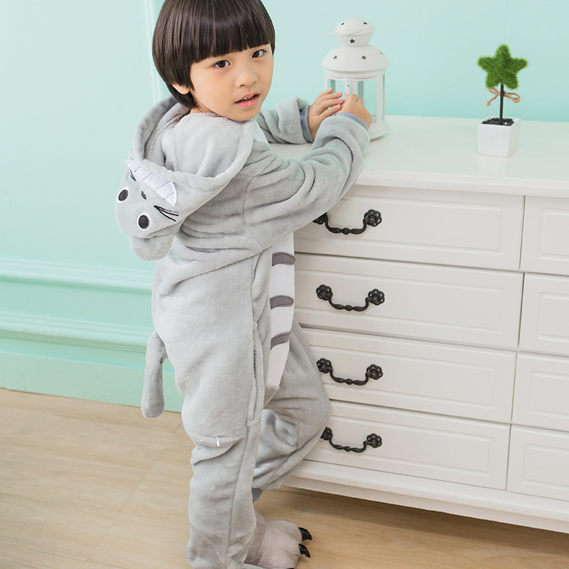 Anime Pyjamas Unisex Kostumer Dinosaurier Totoro Onesize Pokemon Kids - Kostumer - Foto 6