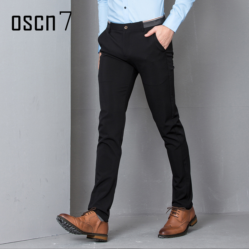 OSCN7 Slim Fit Leisure Mens Dress Pants 2017 Fashion Business Office Pants Men Plus Size Casual Mens Pants Formal Pantalon Homme ...