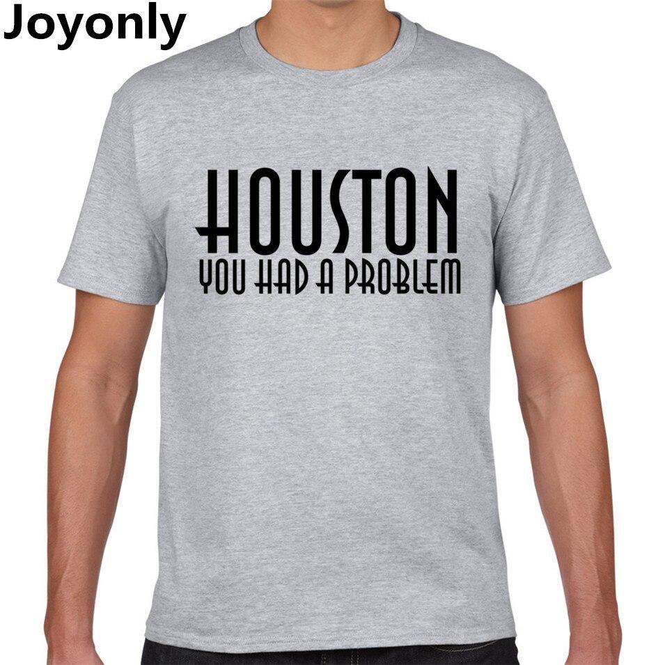 Joyonly 2017 Summer Men 39 S Cotton T Shirt Letter Houston