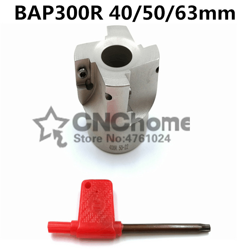 1PCS BAP 300R 40mm/50mm/63mm 22-4T 90 Degree Angle Shoulder Face Mill Head CNC Milling Cutter, Milling Insert APMT1135