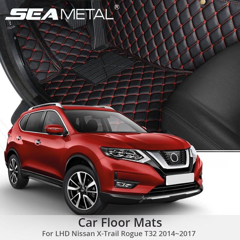 For LHD Nissan X Trail Rogue T32 2014 2015 2016 2017 Car Floor Mats Custom Rug