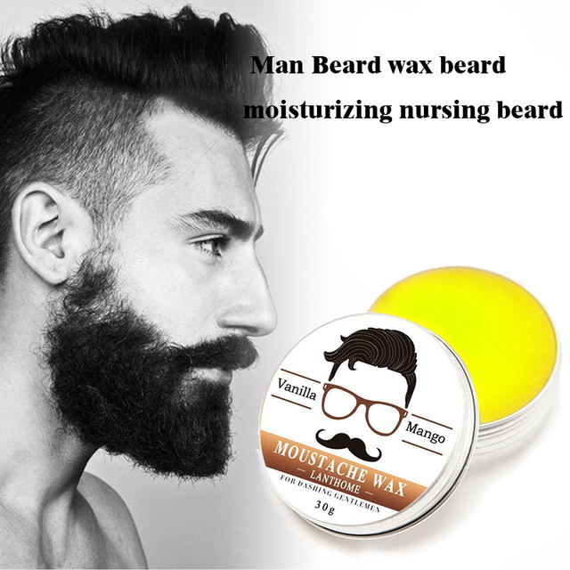 Natural Conditioning Softener Beeswax Moustache Wax 30g Beard Balm Beard Conditioner Leave in Styling Aftershave For Men 1
