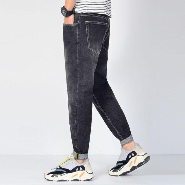 115a7efbb En venta Los hombres Jean recto Plus tamaño suelto Stretch Casual ...
