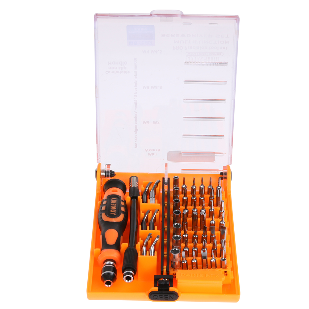 JAKEMY 52in1 Repair And Refit Electronic Products/Mobile Phone Maintenance Kit PC Maintenance Electronic Repair Tools Set pc upgrade and repair bible